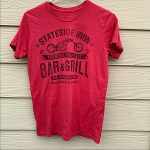 red stateside iron bar & grill t-shirt